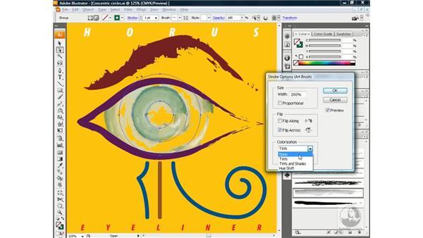 Colorizing an art brush: Illustrator CS3 One-on-One: Beyond the Basics