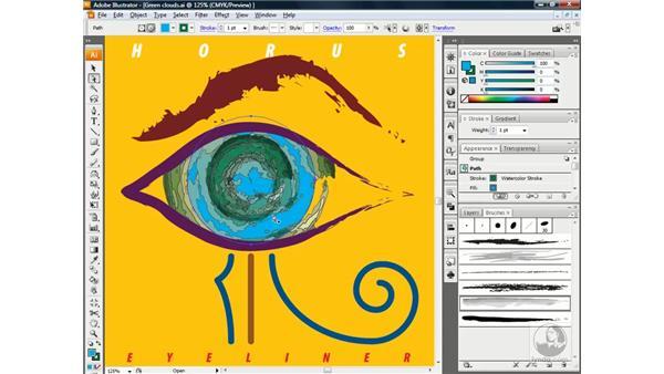 Applying a live art brush effect: Illustrator CS3 One-on-One: Beyond the Basics