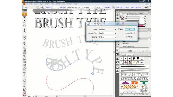 Adjusting type on a path: Illustrator CS3 One-on-One: Beyond the Basics