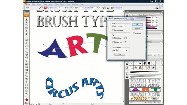 Using the Hue Shift option: Illustrator CS3 One-on-One: Beyond the Basics