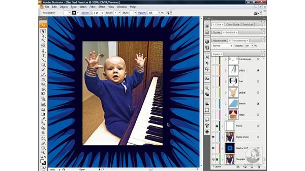 Assembling a photo illustration: Illustrator CS3 One-on-One: Beyond the Basics