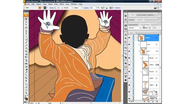 Assigning opacity to an Appearance attribute: Illustrator CS3 One-on-One: Beyond the Basics