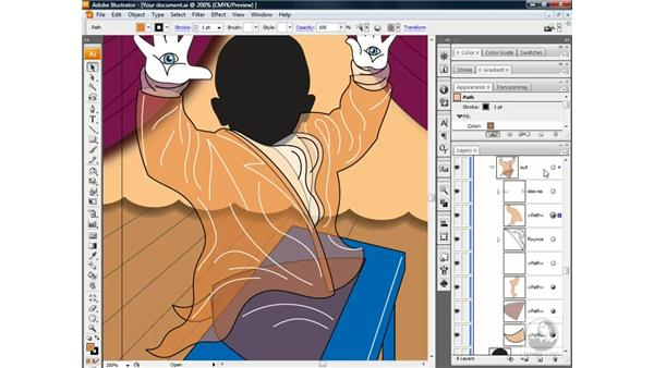 Creating a knockout group: Illustrator CS3 One-on-One: Beyond the Basics