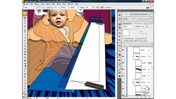 Blending between groups: Illustrator CS3 One-on-One: Beyond the Basics