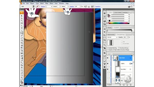 Creating a gradient opacity mask: Illustrator CS3 One-on-One: Beyond the Basics