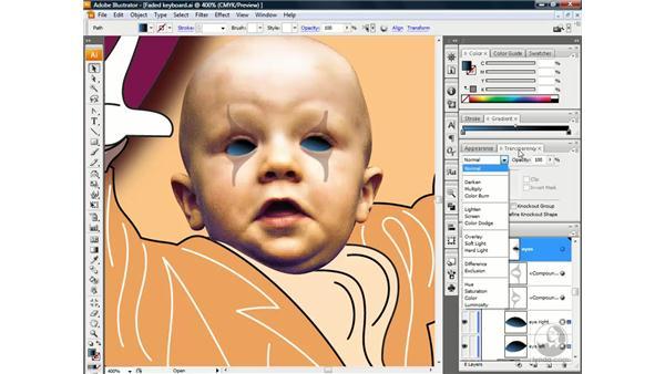 The Screen blend mode: Illustrator CS3 One-on-One: Beyond the Basics