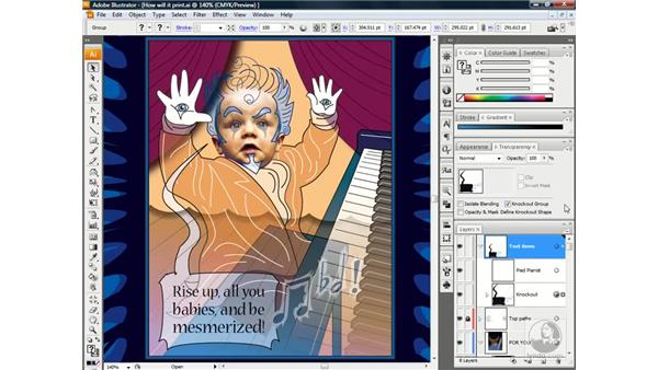 Becoming a transparency detective: Illustrator CS3 One-on-One: Beyond the Basics