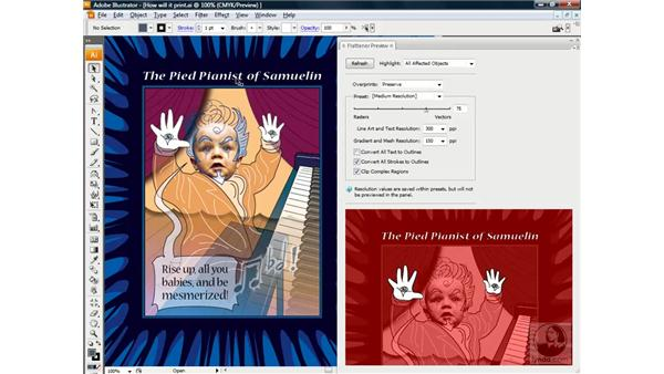 Working with the Flattener Preview: Illustrator CS3 One-on-One: Beyond the Basics