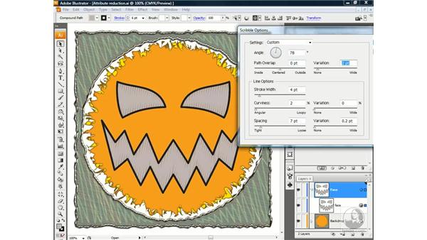 Applying the Scribble effect: Illustrator CS3 One-on-One: Beyond the Basics