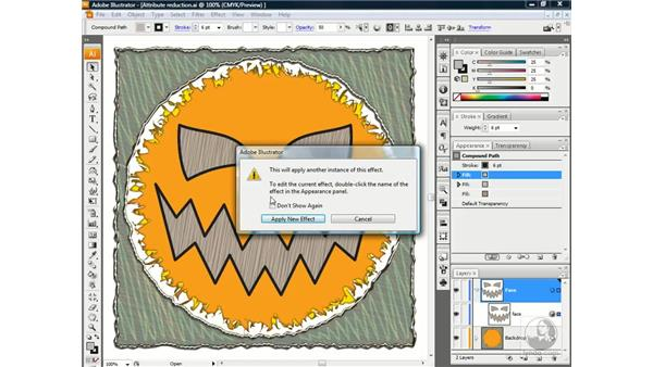 Duplicating and editing an effect: Illustrator CS3 One-on-One: Beyond the Basics