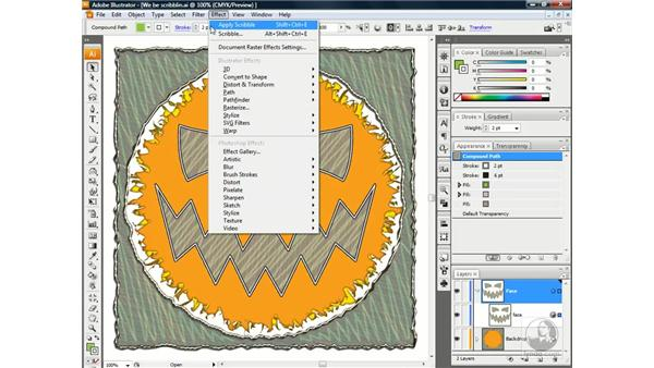 Moving an effect in the Appearance palette: Illustrator CS3 One-on-One: Beyond the Basics