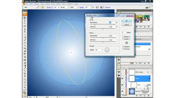 Applying a second instance of Transform: Illustrator CS3 One-on-One: Beyond the Basics