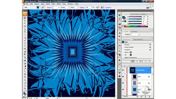 Making the frame: ZigZag and Pucker: Illustrator CS3 One-on-One: Beyond the Basics