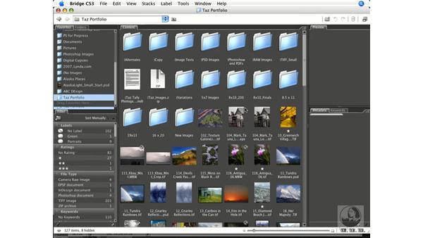 Using Bridge favorites: Photoshop CS3 Color Correction