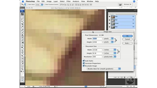 Pixels as brick building blocks: Photoshop CS3 Color Correction