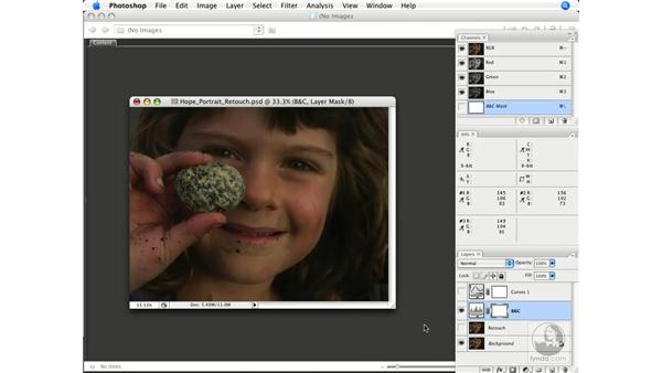 Numeric evaluation and correction results: Photoshop CS3 Color Correction