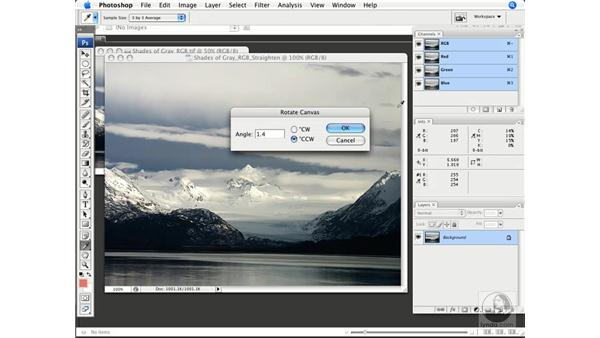 Straightening your image: Photoshop CS3 Color Correction