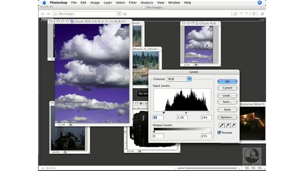 Using master channel histograms: Photoshop CS3 Color Correction