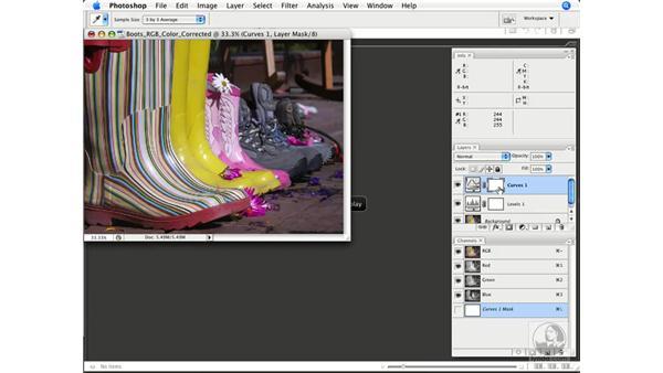 Setting Color Sampler points: Photoshop CS3 Color Correction