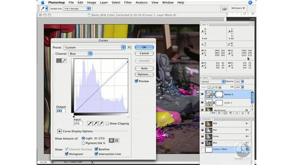 Making the corrections (curves): Photoshop CS3 Color Correction