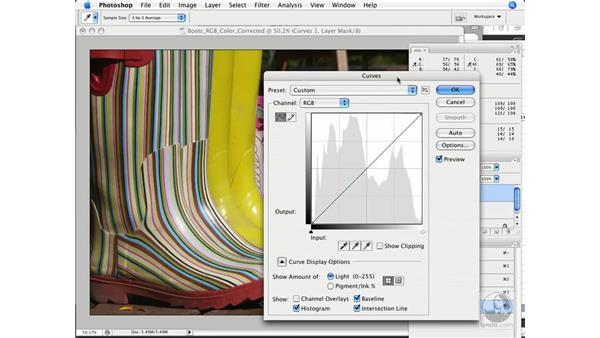 Fine-tuning overall brightness and contrast: Photoshop CS3 Color Correction