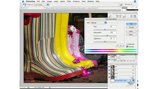 Tweaking saturation: Photoshop CS3 Color Correction