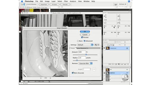 Sharpening (in Lab): Photoshop CS3 Color Correction