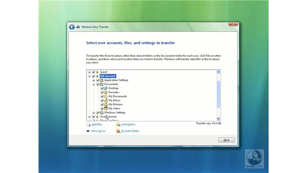 Easy Transfer and the File Transfer wizard: Windows Vista Essential Training