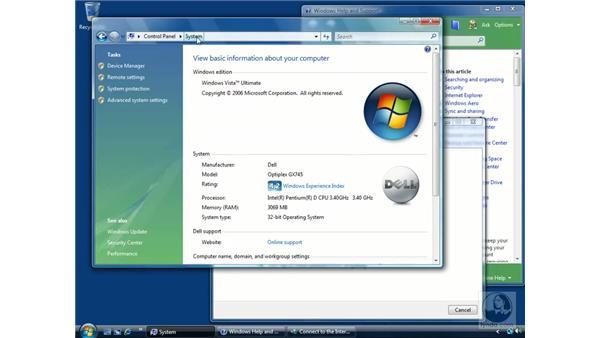 The Welcome Center: Windows Vista Essential Training