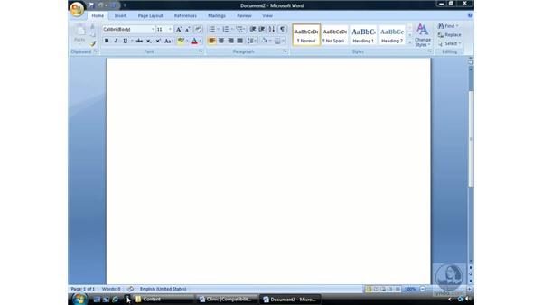 The taskbar: Windows Vista Essential Training