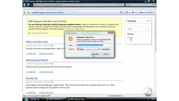 RSS: Windows Vista Essential Training