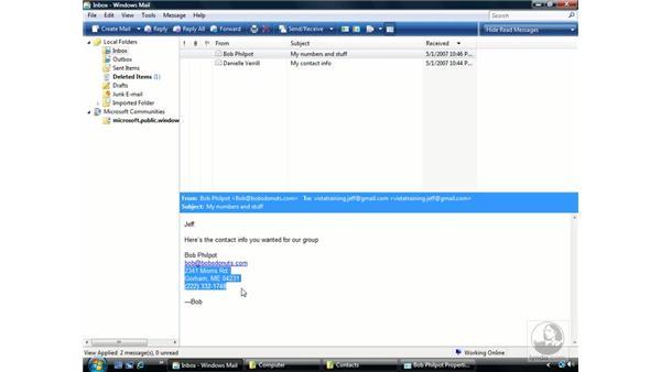 Windows Contacts: Windows Vista Essential Training