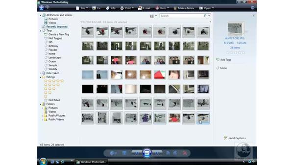 Photo Gallery basics: Windows Vista Essential Training