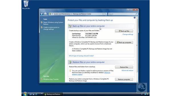 Control Panel home: Windows Vista Essential Training
