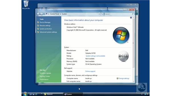 Connecting to a network: The Network and Sharing Center: Windows Vista Essential Training