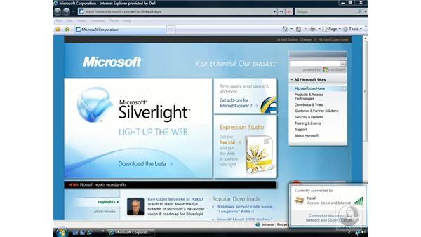 Wireless networking: Windows Vista Essential Training