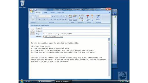 Windows Meeting Space: Windows Vista Essential Training