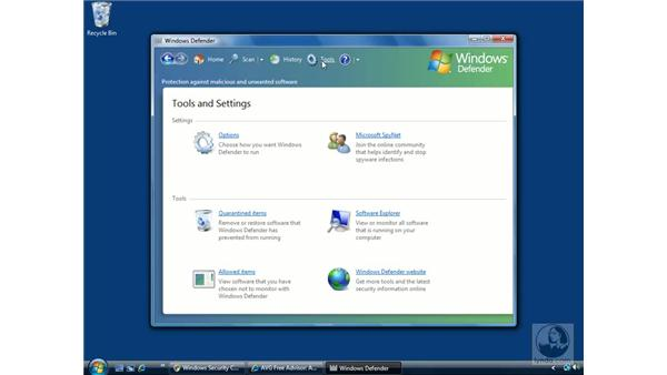 Windows Defender: Windows Vista Essential Training