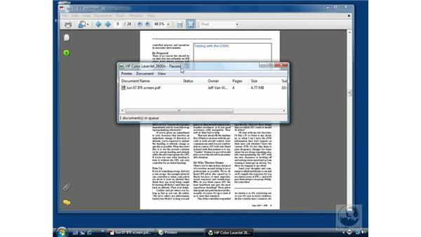 Cool printing tips: Windows Vista Essential Training