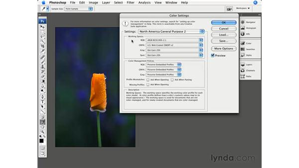 Color settings: Photoshop CS3 for Photographers