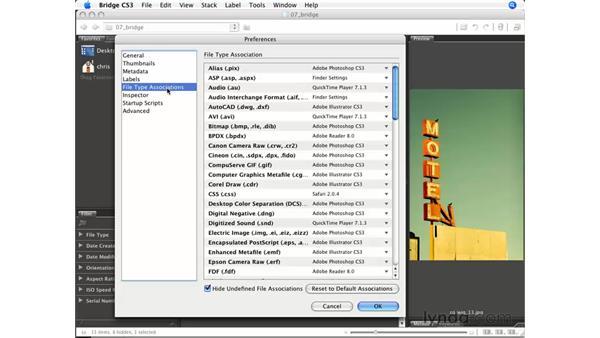Other Bridge preferences: Photoshop CS3 for Photographers