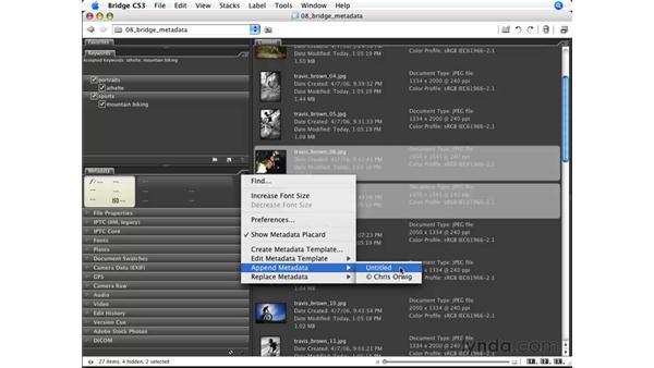 Metadata templates: Photoshop CS3 for Photographers