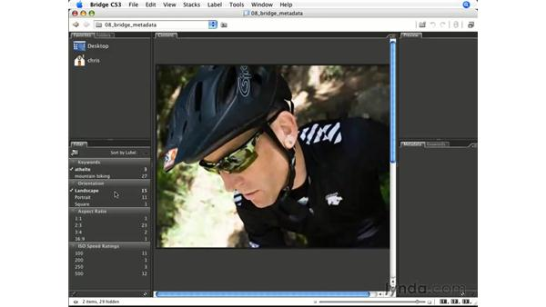 Filtering based on metadata: Photoshop CS3 for Photographers