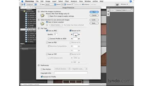 The amazing Image Processor: Photoshop CS3 for Photographers