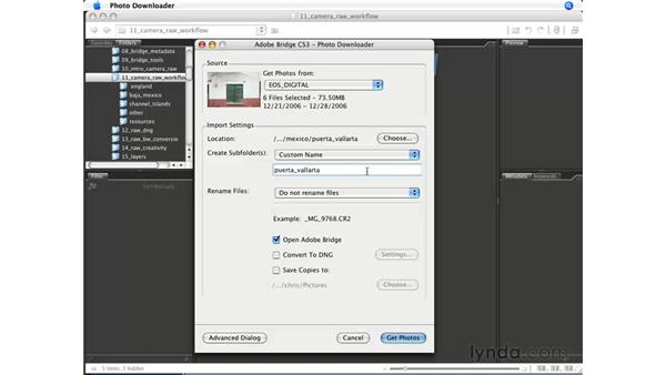 Import from Camera: Photoshop CS3 for Photographers