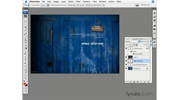 Organizing layers: Photoshop CS3 for Photographers