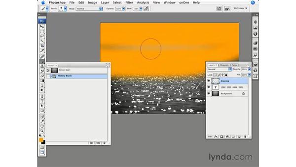 Using the History brush: Photoshop CS3 for Photographers