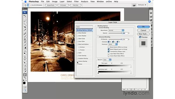 Layer style effects: Photoshop CS3 for Photographers