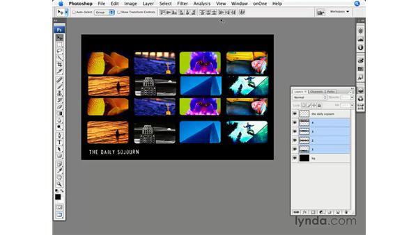 Aligning layers: Photoshop CS3 for Photographers