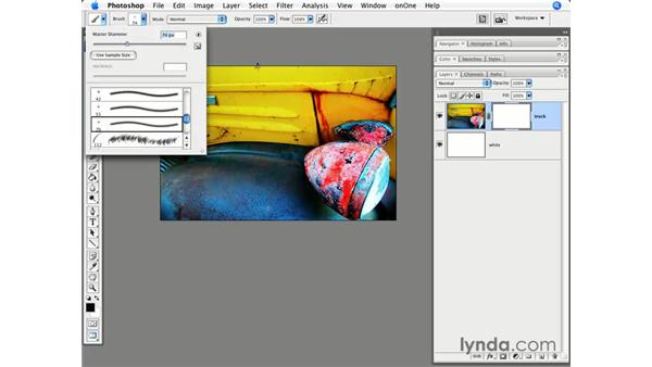 Creating a custom border using masking: Photoshop CS3 for Photographers